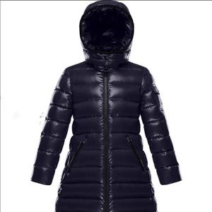 SOLD OUT Moncler Moka Laque Quilted Hood Long Coat